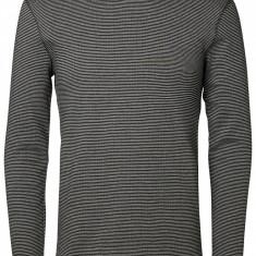 Bluza din bumbac SELECTED - art 16051698 dungi negru ivoire - Bluza barbati Selected, Marime: S, M, L, XL, XXL