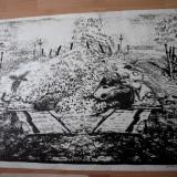 LITOGRAFIE --MARCEL CHIRNOAGA - Pictor roman, Abstract, Cerneala