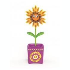 Set floare Magic Bloom si gandacel - mov - Clama de par Copii