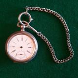 Ceas de buzunar - argint - sec. 19 - cu încarcare la cheie