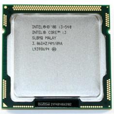 Procesor calculator/desktop i3-540-3, 06 GHZ-4M cache. - Procesor laptop Intel, Intel, Intel Core i3, Peste 3000 Mhz, Numar nuclee: 2