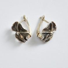 Cercei de argint model trifoi cu 4 petale - 4, 71 grame - Cercei argint