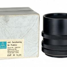 Tuburi macro m42 Pentacon negre - Inel macro obiectiv foto