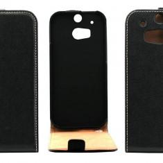Husa Flip Cover OEM THHTCONEM8NEG neagra pentru HTC One M8 - Husa Telefon