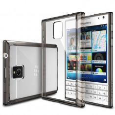 Husa Protectie Spate Ringke FUSION Smoke Black plus folie protectie pentru Blackberry Passport - Husa Telefon