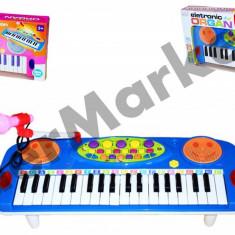 Orga electronica pentru copii cu jocuri de lumini si microfon functional - Instrumente muzicale copii
