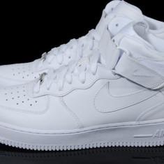 Ghete Nike Air Force 1 -alb mono-model UNISEX - Adidasi barbati Nike, Marime: 36, 37, 38, 39, 40, Culoare: Din imagine, Piele sintetica