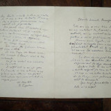 Scrisoare semnata de G. Ciprian adresata lui Aurel Baranga