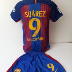 Echipament sportiv fotbal copii FC.Barcelona Suarez 2016-2017 marimea 104-116 - Set echipament fotbal, Marime: Alta