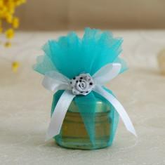 Marturii botez borcanele miere in tul