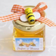 Marturii botez borcanele miere cu albinute