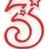Lumanare aniversara de tort cifra 3 STAR