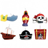 6 Lumanari Pirati pentru Tort cu figurine Pirates Treasure 3cm