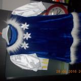 Rochita Craiasa zapezii/Craciunita - Costum copii, Marime: Alta, Culoare: Albastru