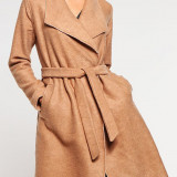 Jacheta usoara din lana si acryl - Only - art. 15119587 caramel - Geaca dama Only, Marime: 36, 38, 40, 42, Culoare: Maro