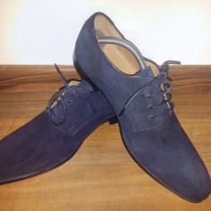 Vand Pantofi Oxford ASOS Blue Suede - Piele Intoarsa - Pantofi barbati Asos, Marime: 43, Culoare: Bleu