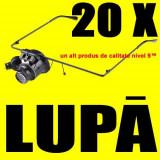 LUPA Ochelari 20X + Lumina LED ceasornicar bijutier