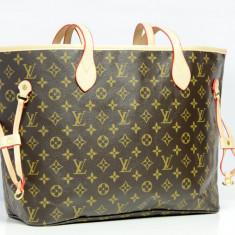 Geanta Dama Louis Vuitton, Geanta de umar, Asemanator piele - Geanta / Poseta de umar sau mana Louis Vuitton LV Neverfull - Cadou Surpriza
