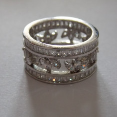 Inel argint - Inel tip verigheta cu zirconii