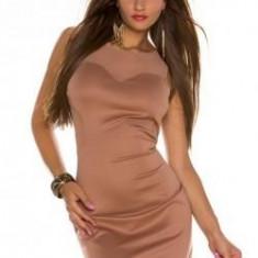 Rochie tricotate - Rochie scurta maro