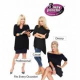 Bluza 3 moduri de purtare Poncho Way