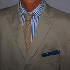 MOKAZIE Sacou barbati HUGO BOSS Black Label din bumbac marimea 52 culoarea bej, 3 nasturi, Marime sacou: 52, Normal