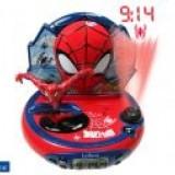 Lexibook Radio cu ceas ; alarma si proiectie Spiderman