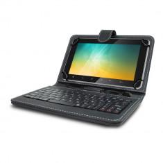 Husa tableta cu tastatura, 8 inch, Universal - Husa Tableta 8 Inch Cu Tastatura Micro Usb Model X, Negru, Tip Mapa C7