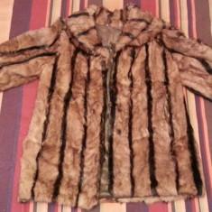 Palton dama - Haina blana naturala dama