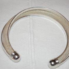 Bratara din argint - Superba bratara argint 925-electroplacata-reglabila-model impletit