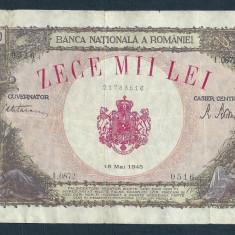 Bancnote Romanesti, An: 1945 - ROMANIA 10000 10.000 LEI 18 MAI 1945 [24]