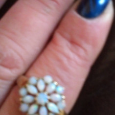 Oferta superb inel aur opale