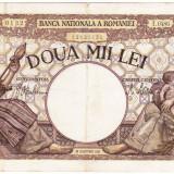 6)Bancnota 2000 lei 18 noiembrie 1941, filigran Traian, VF