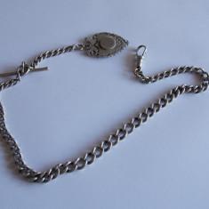 Lant de argint pentru ceas de buzunar Anglia - Ceas de buzunar vechi