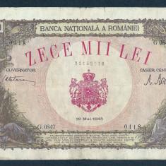 Bancnote Romanesti, An: 1945 - ROMANIA 10000 10.000 LEI 18 MAI 1945 [23]