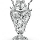Amfora / Vaza argintata Sheffield by Chinelli - Suport flori