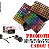 Trusa machiaj profesionala 180 culori Rainbow Seven Fraulein38 + CADOU Eyeliner - Trusa make up