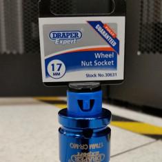 DRAPER - Cheie tubulara 17 mm cu protectie pentru jante aliaj