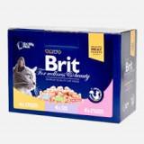 Brit Premium Cat Family multipack cu carne de pui si peste 12 x 100 gr