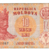bancnota europa, An: 1994 - SV * Moldova 10 LEI 1994 <bine circulat>
