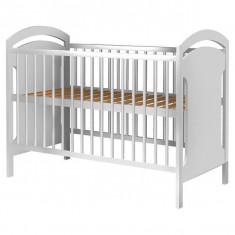 Patut Copii Din Lemn Hubners Anita 120X60 Cm Alb - Patut lemn pentru bebelusi