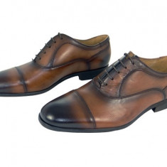 Pantofi barbati, Piele naturala - Pantofi eleganti barbati piele naturala Denis-2597 cuoio