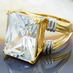 Inel Placat cu Aur 18K, cu Zirconiu, cod 921 - Inel placate cu aur