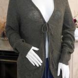 Cardigan lung,asimetric, de dama