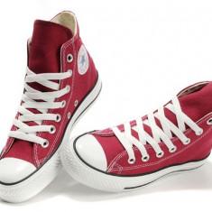 Bascheti Converse All Star (visiniu) - Tenisi barbati, Marime: 36, 37, 38, 39, 40, 41, 42, 43, 44, Textil