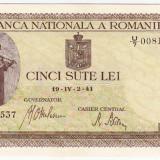 Bancnota 500 lei 2 IV 1941 filigran vertical a.UNC (4)