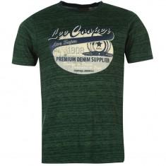 Tricou Lee Cooper mas L-verde - Tricou barbati Lee Cooper, Marime: L, Maneca scurta, Bumbac