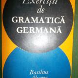 Curs Limba Germana - Exercitii de gramatica germana, Basilius Abager