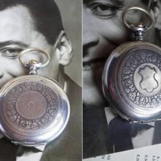 Ceas buzunar argint calibru Omega 40.6L T1, 15 JEWELS, anii 30 - Ceas de buzunar vechi