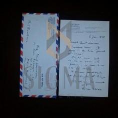 MIRCEA ELIADE - SCRISOARE originala, trimisa din Chicago- Bucuresti, 1978